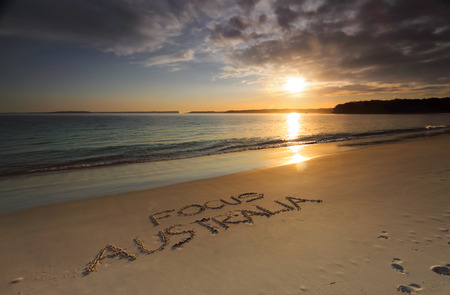 sensational: Early morning along Greenpatch Beach..  The sun shimmering on the water   Australia is the most beautiful and diverse scenic place to visit