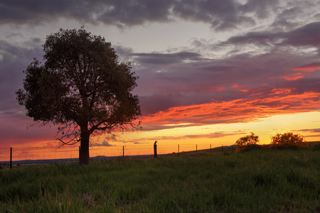 nsw: Sunset views at Greenthorpe in rural Central West NSW Australia