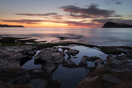 resemblance: Dawn skies from Green Point, Pearl Beach on the Central Coast of NSW.  To the right lies Lion Island, due to its resemblance to a Sphinx from some viewpoints, is located at the entrance of Broken Bay which divides the Central Coast and northern beaches  a