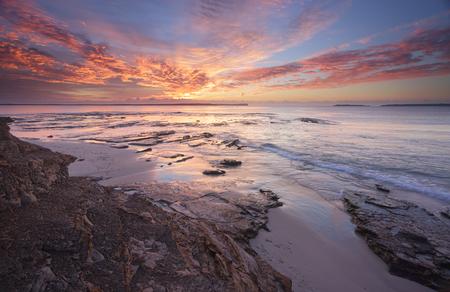sensational: Spectacular sunrise over Jervis Bay from the rocks at Plantation Point