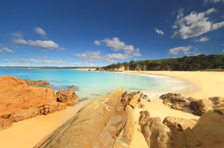 unspoilt: Beautiful unspoilt crystal clear waters and beautiful warm sunshine at Jagger Beach, Australia