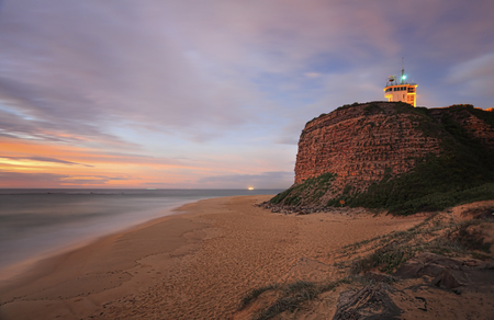 Nobbys Lighthouse Newcastle - a beacon of light for ships into the oldest and one of the largest tonnage ports.  It was built in 1858