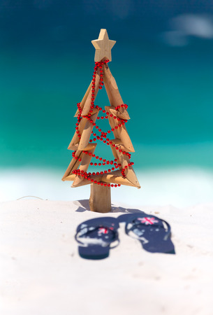 christmas at the beach sun surf and leisure a pair of thongs and - Christmas At The Beach
