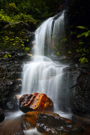 A short hike will bring you to Edith Falls, a pretty waterfall located in The Valley of the Waters, Wentworth Falls Blue Mountains Australia