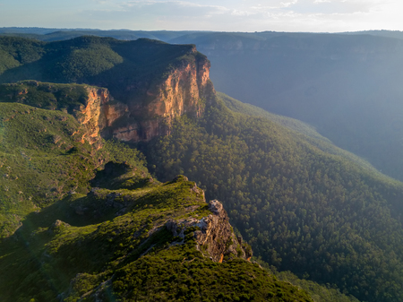 Dramatic light at Govets Gorge in the magnificent Blue Mountains Australia Banque d'images