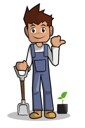 농부 만화 스톡 콘텐츠 - 40463037