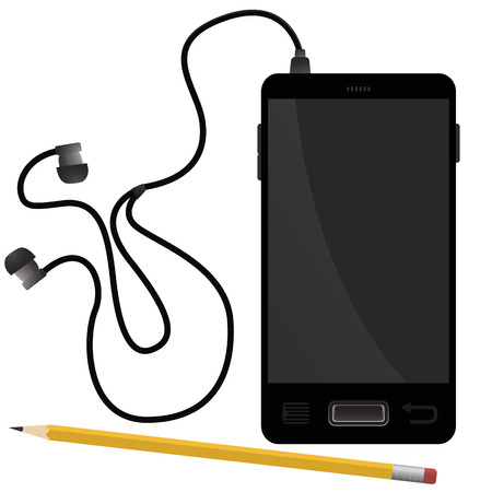 smartphone: Smartphone and pencil