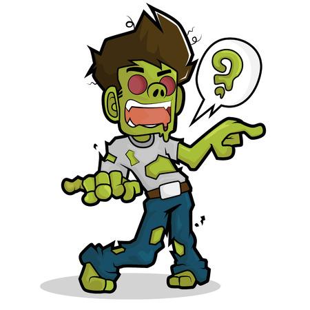Zombie cartoon character