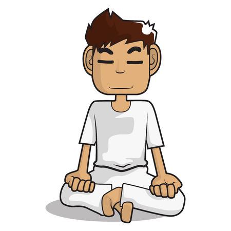 cartoon: meditation cartoon