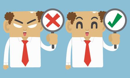 fails: Businessman true and fails symbol