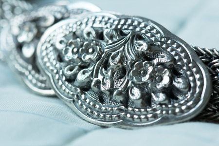 waistband: Silver buckle was carved flowers and leaves delicately. This waistband is suitable on casual and ceremonial clothing.