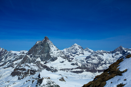 paradise place: A view of the well-known Matterhorn taken from Klein Matterhorn, the highest place in the Alps at 3,883 meters above sea level. Among skiers, the Klein Matterhorn is also known as Matterhorn Glacier Paradise.