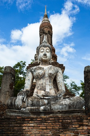 lord buddha: Lord Buddha image was respectfully engaged placed at an ancient temple called Wat temple Trapang Ngoen in Sukhothai. The temple is part of the Sukhothai Historical Park