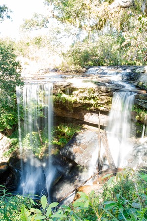 Phu Kradueng National Park, is the highland located in the north-east of Thailand. The National Park consists of fresh forest, and is the source of streams. The Penpob Mai Waterfall, is one of the Phu Kradueng's attractions.
