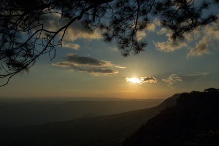 Phu Kradueng National Park, is the highland located in the north-east of Thailand. There are some view points along the south edge of the highland. The Makdook Cliff is one of those view points.