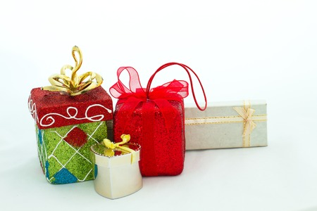 special occasions: Gift packages in various shapes, are prepared for special occasions such as the Christmas and New Years. Unwrapping gift packages always be excited. Stock Photo