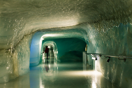 The Jungfraujoch Ice Palace is solid ice tunnel excavated through the Aletsch Glacier, the largest glacier in the Alps. The Ice Palace, or Eispalast is the highest-altitude ice cave in the world.