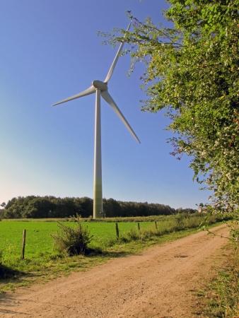 Windkarftanlage individually Stock Photo