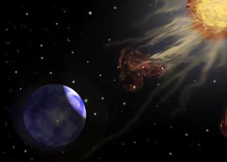 Solar storm, solar wind
