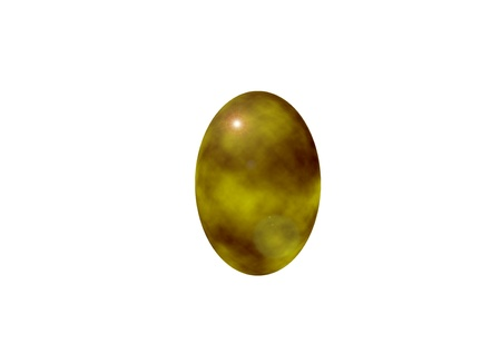 golden egg isolated marbled Stock Photo