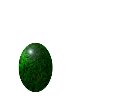 marbled green egg, isolated