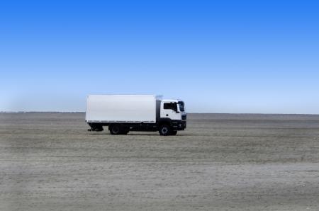 Trucks in the sand