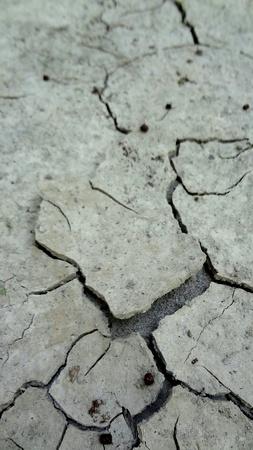 barrenness: Cracked Land Stock Photo