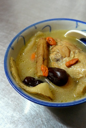 chinese herbs: Chicken Soup with Traditional Chinese Herbs