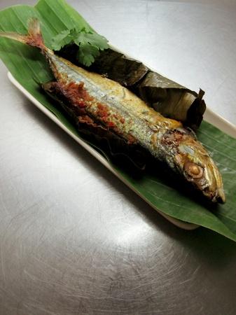 stuffed fish: Malaysia Food Fried Fish Stuffed with Sambal Stock Photo
