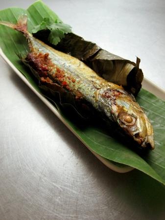 sambal: Malaysia Food Fried Fish Stuffed with Sambal Stock Photo