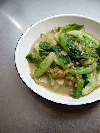 fermented: Chinese Stir Fried Romaine with Fermented Bean Curd