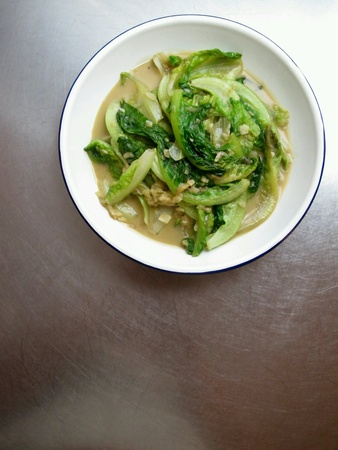 stir fried: Chinese Stir Fried Romaine with Fermented Bean Curd