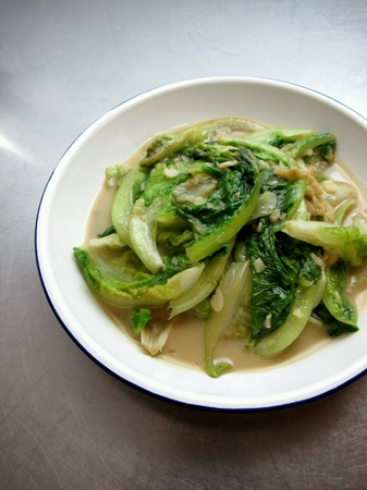 romaine: Chinese Stir Fried Romaine with Fermented Bean Curd