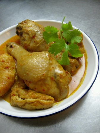 malaysian food: Malaysian Food Spicy Curry Chicken