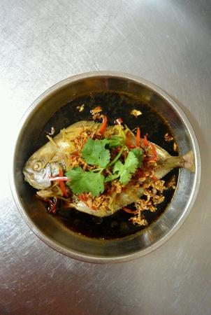soysauce: Chinese Food Steamed Pomfret Fish Seafood