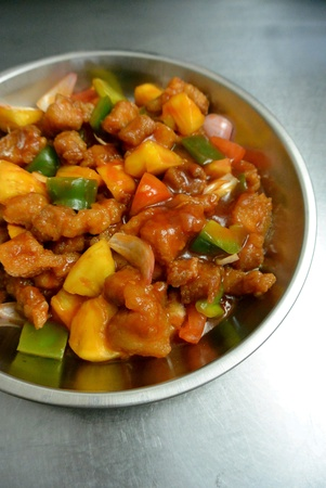 Malaysian Food Koh Luk Yuk Sweet and Sour Pork Reklamní fotografie