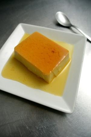 Dessert Creme Caramel Pudding Stock Photo