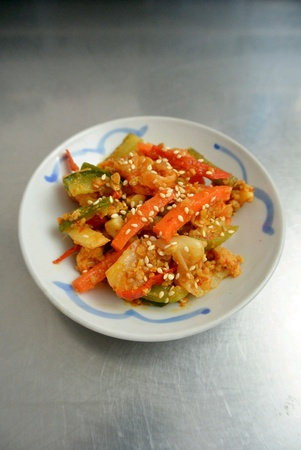 Malaysian Food Vegetable Spicy Achar Acha Pickles Stock Photo