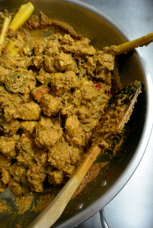 Malaysian Malay Food  Beef Rendang Dry Curry Spicy