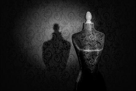 Elegant Paisley Dress Form