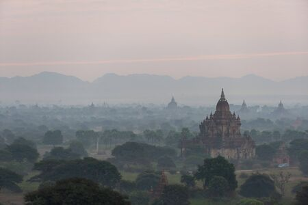 The land of pagodas in the twilight evening, Bagan is an ancient city and it has been certified by UNESCO as a World Heritage Site. Located in Mandalay Region, Myanmar