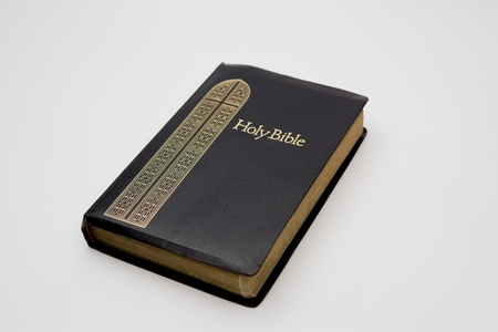 A Holy Bible isolated on a white background  photo