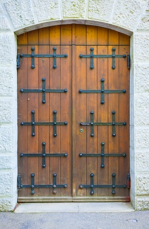 Old Brown Door Stock Photo - 12866596