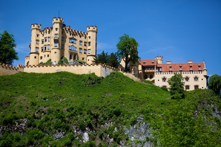 schwangau: Hohenschwangue is a 19th century castle in southern Germany. It was the childhood residence of King Ludwig II of Bavaria and was built by his father, King Maximilian II. It is located in the German village of Schwangau in Bavaria very close to the border