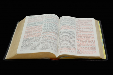 Photo of an open Holy Bible Zdjęcie Seryjne