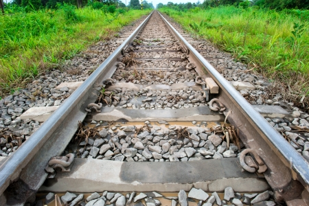 Prairie railroad tracks,Thailand photo