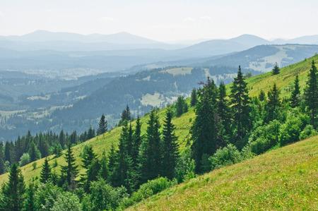 Summer mountain landscape in July photo