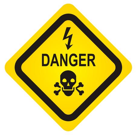 Vector skull danger sign. EPS10