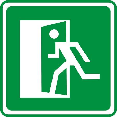 firealarm: Emergency exit sign. Vector illustration.