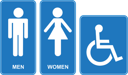 toilette: Toilette sign. Vector illustration.